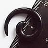 """Расширитель для пирсинга ушей """"спираль"""" черная 5мм.(цена за 1шт)"""