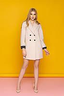 """Красивое женское пальто """"Р-28"""" (шерсть молочный)"""