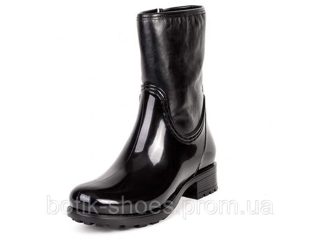 e1bbb570733e Сапоги резиновые женские стильные черные Мида 22079-1: продажа, цена в  Полтавской ...