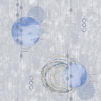 Обои бумажные Континент Новаро голубой 1369