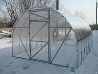 Теплица Господарка 12м.кв. с сотовым поликарбонатом Екопол 4мм. 3*4*2м Оцинкованный М-образный профиль 0,75мм
