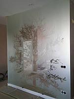Зеркала с пескоструйным рисунком