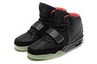 Мужские кроссовки Nike Air Yeezy 2 (Black), фото 1