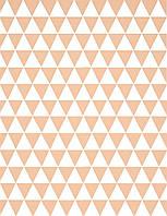 Подарочная бумага (упаковочная) белого цвета с бежевыми (персиковыми) треугольниками