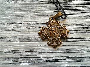 Андрей Именной Нательный Крест Православный Мужской Медненный размер 30*22 мм, фото 2