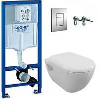 Комплект GROHE Solido Perfect 39186000 инсталляция + унитаз + сиденье Soft Close