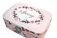"Шкатулка ""Spring"" для украшений, кожзам, 20,5-14-7 см, розовая"