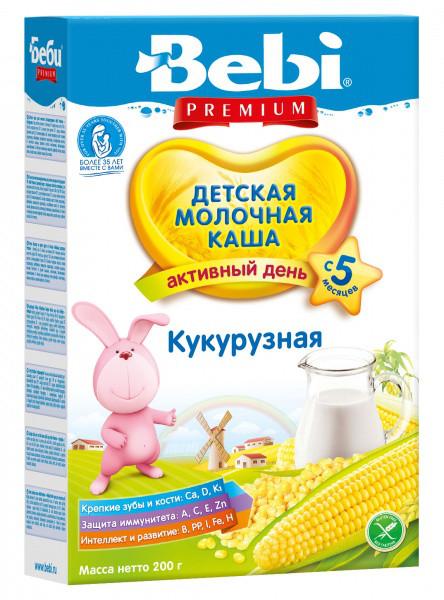 Молочная кукурузная каша Bebi Premium, 200 г