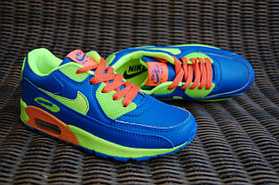 699a8457ba230 SALE 31-36рр Детские и подростковые кроссовки синие в стиле Nike Air Max  Вьетнам,