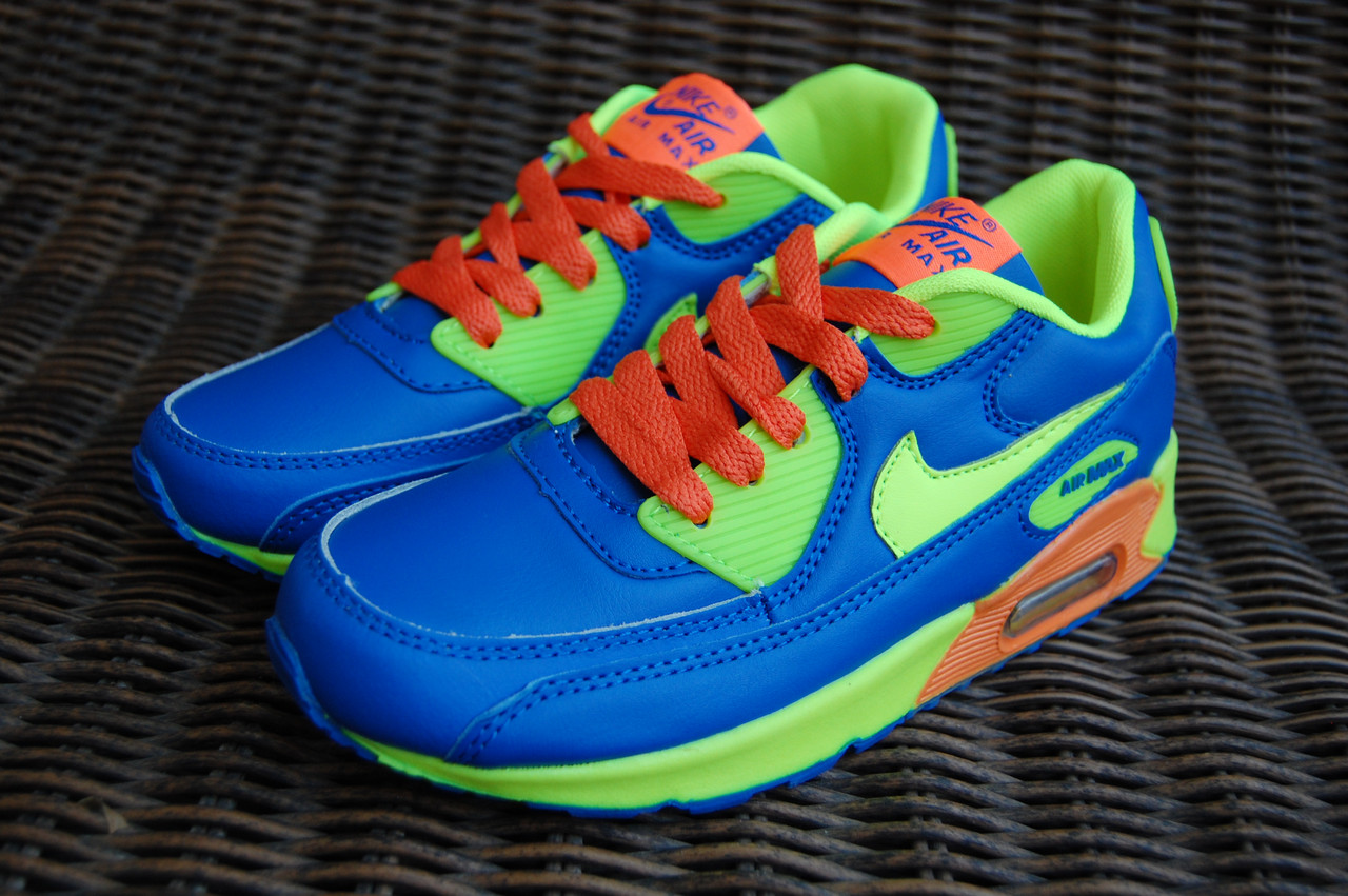 68dacd4b50978 SALE 31-36рр Детские и подростковые кроссовки синие в стиле Nike Air Max  Вьетнам -