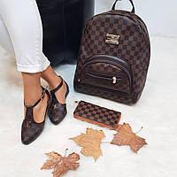 Набор LV сумочка, сандали, кошелек