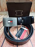 Ремень кожаный бренд Томми Халфигер (реплика)