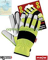 Перчатки кожаные Польша (велоперчатки) RMC-MERATON YWB