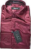 Подростковые приталенные атласные рубашки SIGMAN недорого, фото 3