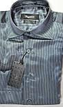 Подростковые приталенные атласные рубашки SIGMAN недорого, фото 5