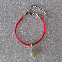 Красная нить оберег натуральный камень Оникс 10 мм