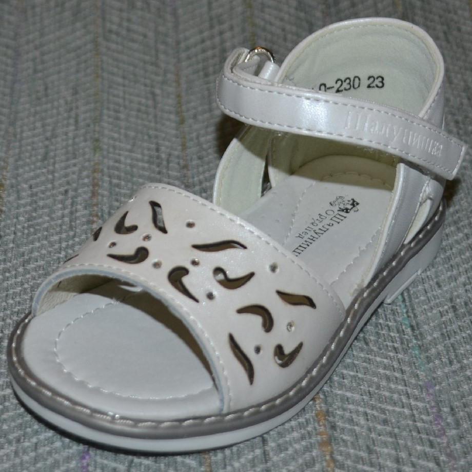 Белые сандалики, Шалунишка ортопед  размер 20-25
