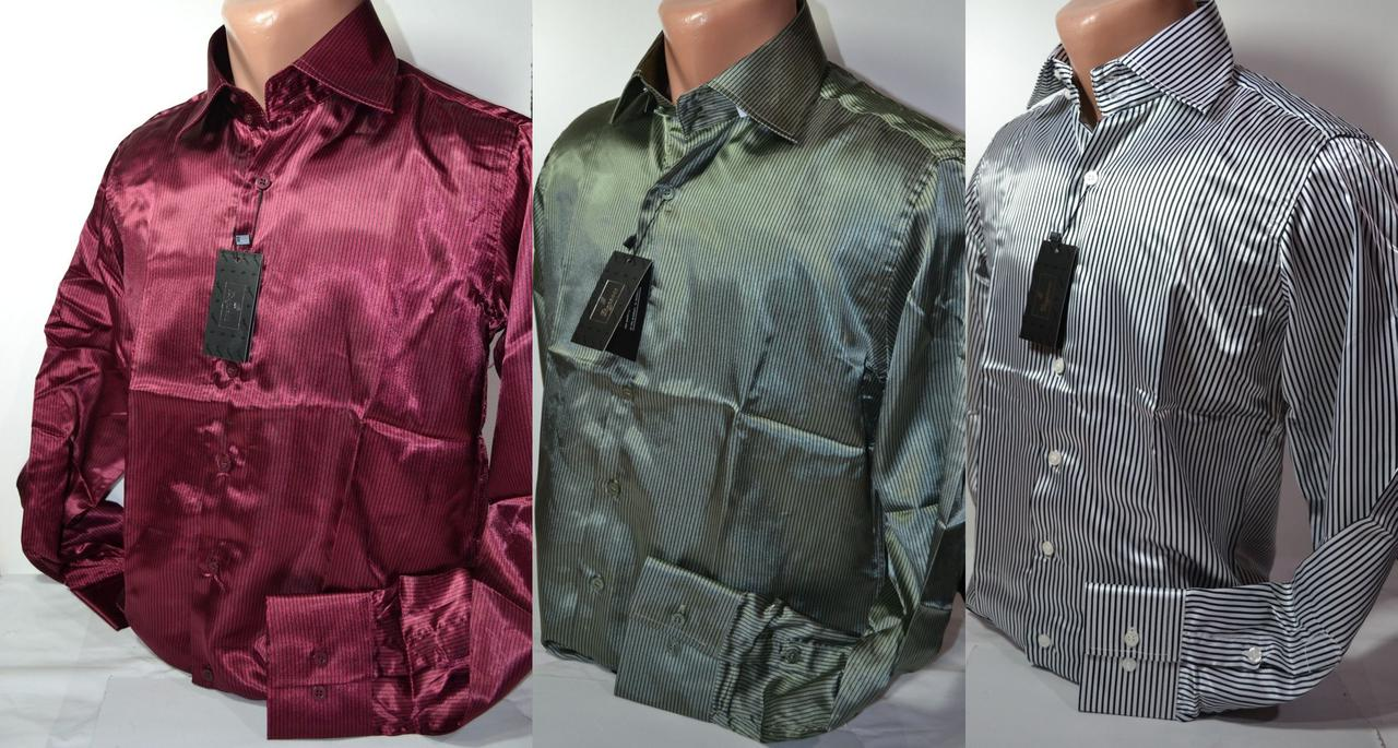 Подростковые приталенные атласные рубашки SIGMAN недорого