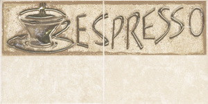Декор из коллекции CERSANIT SAGRA керамической плитки для кухни SAGRA BEIGE 1 COFFE Арт. 134093