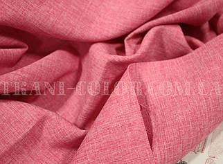 Костюмна тканина габардин льон малиновий