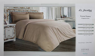 Белье постельное Евро размера Le Jardin Trend Saten Cappuccino, фото 2