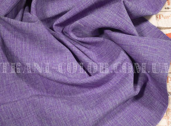 Костюмная ткань габардин лён сиреневый, фото 2