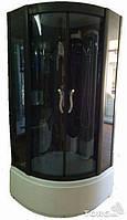 Гидромассажный бокс с глубоким поддоном Diamond A-003-3 (тонированные/зеркальные синие), 900х900х2100 мм.