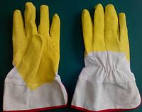 "Перчатки ""СТЕКОЛЬЩИК желтый"" твердый манжет размер-10,5. PRC /05-21"