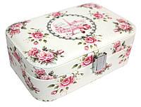 """Шкатулка """"Лето в Париже"""" для украшений, кожзам, 20,5-14-7 см, розовая"""