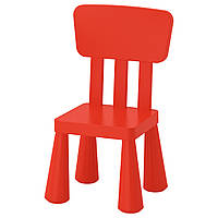 "IKEA ""МАММУТ""  Детский стул, д/дома/улицы, красный"