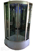 Гидромассажный бокс с глубоким поддоном Diamond A-003 (прозрачные/зеркальные зеленые), 900х900х2150 мм.