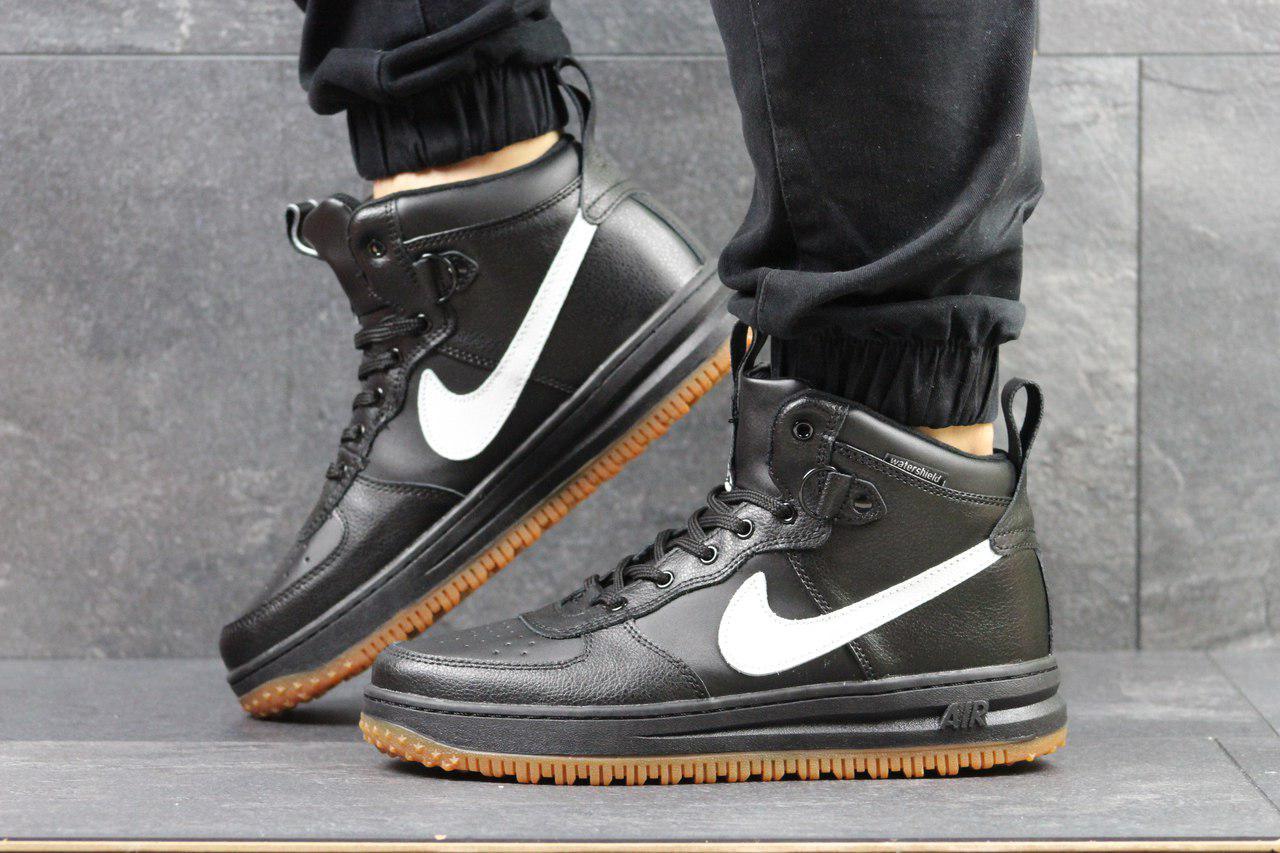 19da456c Мужские кроссовки Nike Lunar Force (черно-белые), ТОП-реплика ...