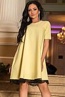 Желтое платье модного фасона, фото 1
