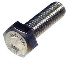 Болт нержавеющий с шестигранной головкой Din 933 M3x10 A2