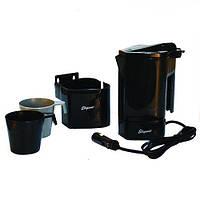 Чайник 12V 400мл ''ELEGANT' (101530) стойка+2 чашки+предохранитель (шт.)