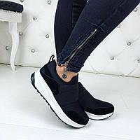 Женские чёрные кроссовки