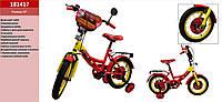 Детский двухколесный велосипед Тачки 181417 14 дюймов
