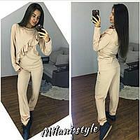 Женский ангоровый костюм с рюшами на кофте tez2105127