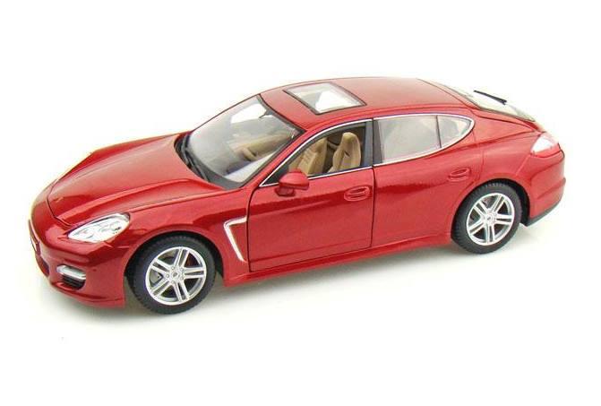 Автомодель (1:18) Porsche Panamera Turbo красный металлик