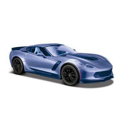 Автомодель (1:24) 2017 Corvette Grand Sport синий металлик
