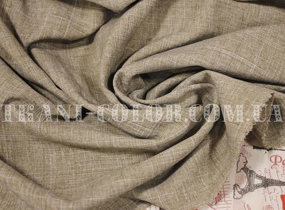 Костюмная ткань габардин лён бежевый, фото 2