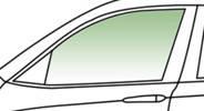 Автомобильное стекло передней двери опускное левое SKODA FABIA 1999-2007 зеленое, инкапсулированное 7808LGSH5F