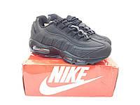Мужские Кроссовки Nike Air Max 95 ТОП черные кожа