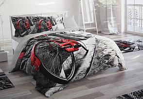 Евро размера постельное белья Grey 3D Le Jardin, фото 2