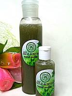 Натуральный шампунь для волос с водорослями спирулина.