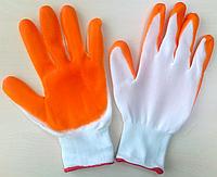 """Перчатки """"СТРЕЙЧЕВЫЕ"""" с нитриловым покрытием (синие и оранжевые) размер-8. PRC /05-3"""