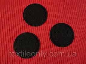 Нашивка коло 40 мм чорний фетр