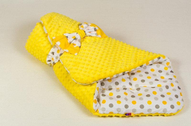 Конверт - одеяло на выписку демисезонный BabySoon Солнышко 80 х 85см желтый