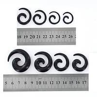 """Набор тоннелей-растяжек """"спираль"""" (8 штук) черные., фото 1"""