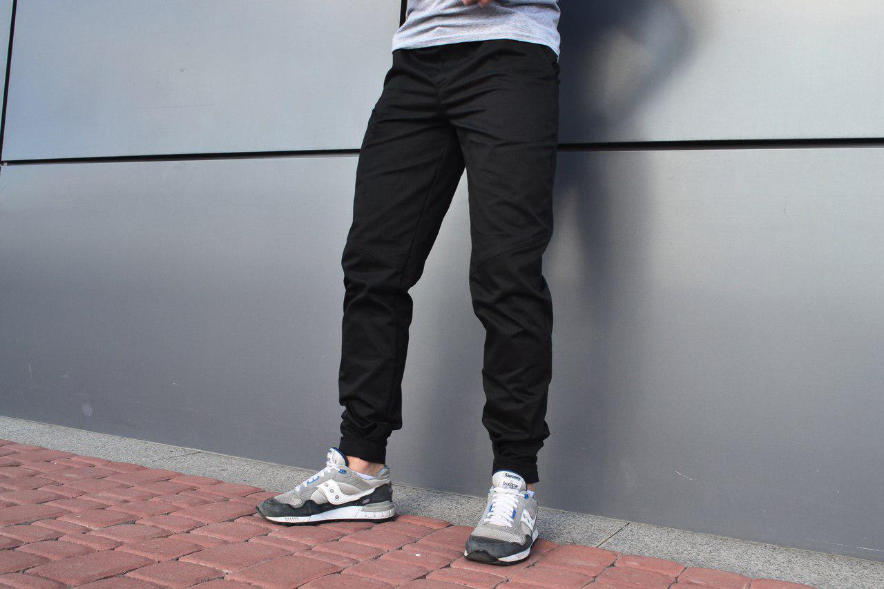 Мужское карго брюки ТУР Bronson, Черные, 100% хлопок, манжет-липучка